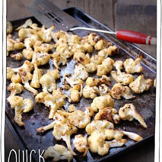 Quick Roasted Cauliflower