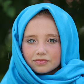 by Cindy Walker - People Portraits of Women ( girl, scarf, portrait )