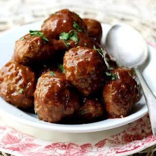 Honey Garlic Meatballs.