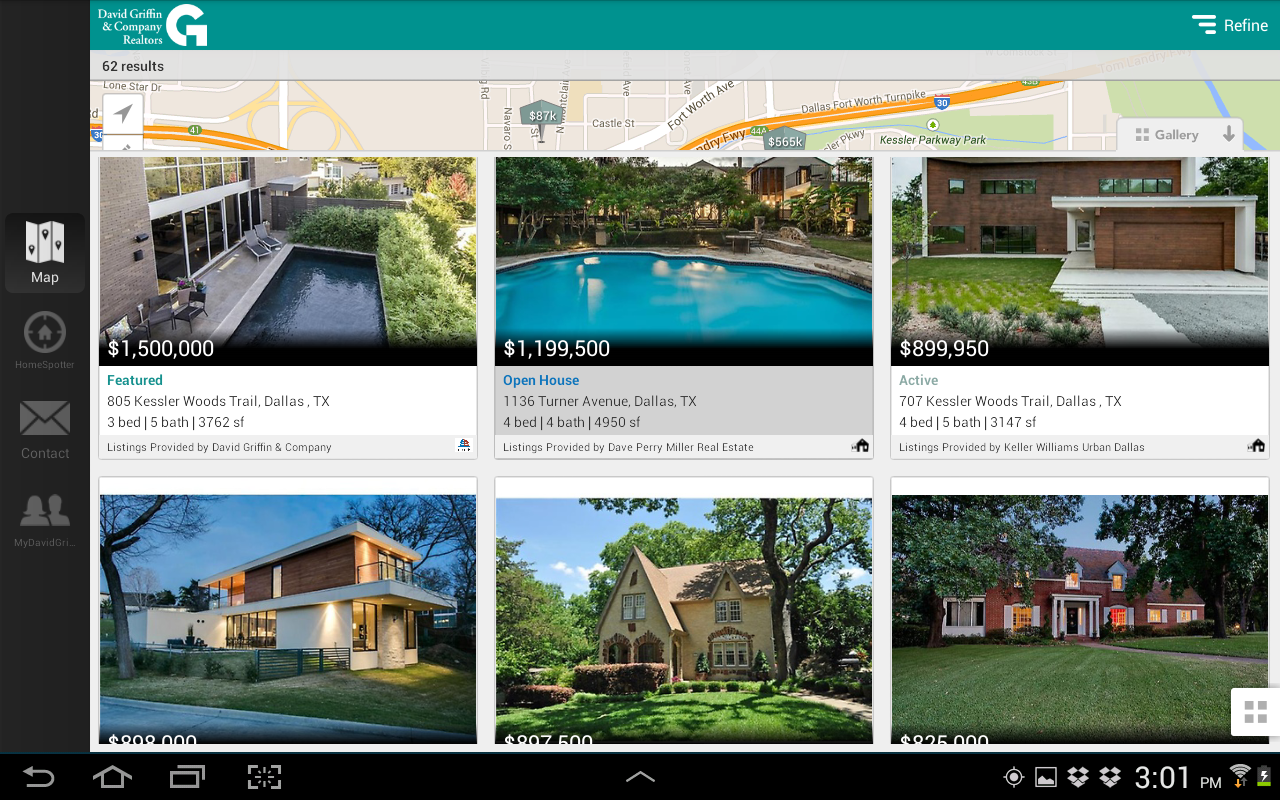 David Griffin & Co. Realtors- screenshot