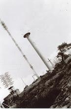 Photo: Hestheia. Greipstad-senderen med master/antenner.Ca. 1961/62.