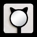 Mirror - camera, reflection, focus icon