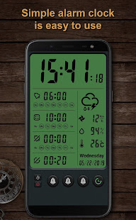 Alarm clock and weather forecast, stopwatch for PC / Windows