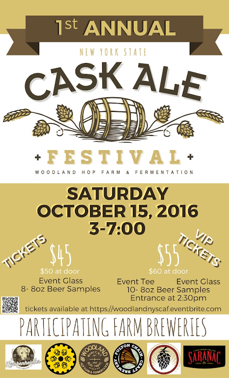 Logo for New York State Cask Ale Festival @ Woodland Farm Brewery