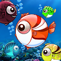 Fish war: Dots Eater Battle icon