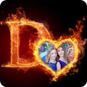 3D Fire Text Photo Frame