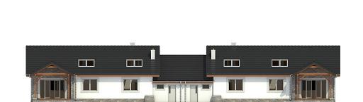 Derkacz z garażem 1-st. bliźniak A-BL - Elewacja tylna