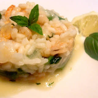 Risotto with Baby Shrimp.
