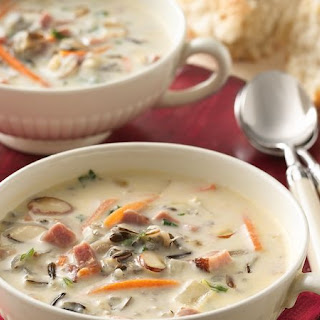 Slow-Cooker Creamy Ham and Wild Rice Soup.