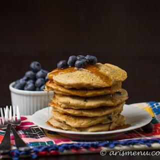 Vegan Whole Wheat Blueberry Pancakes Recipes