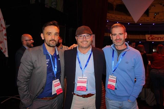 Francisco López, José Gómez, fotógrafo almeriense; y el también ponente Marco Creativo.