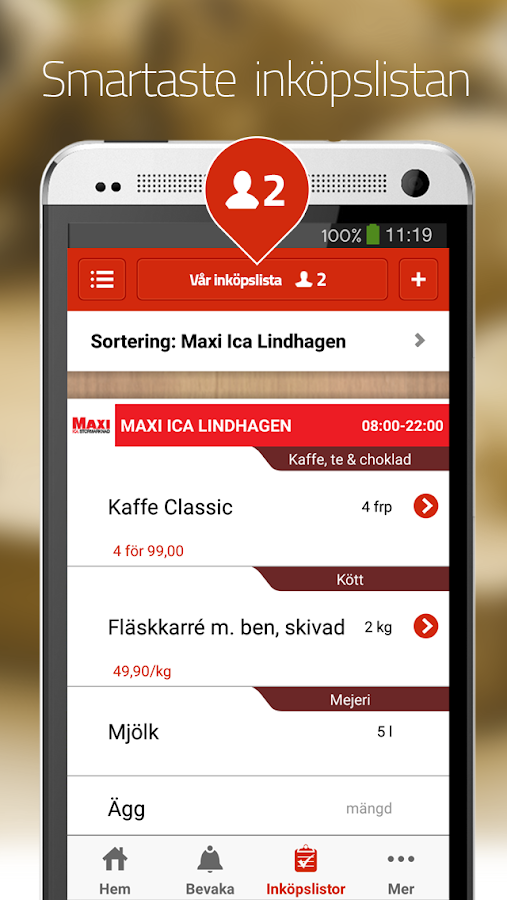 Matpriskollen- screenshot
