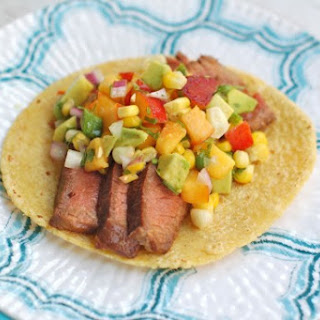 Soy-Marinated Steak Tacos with Nectarine Corn Salsa