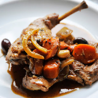 """Braised Rabbit with Olives & Preserved Lemon"""