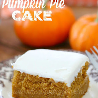 Pumpkin Pie Filling Cake Recipes