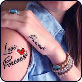 Tattoo My Photo with My Name for Boys & Girls