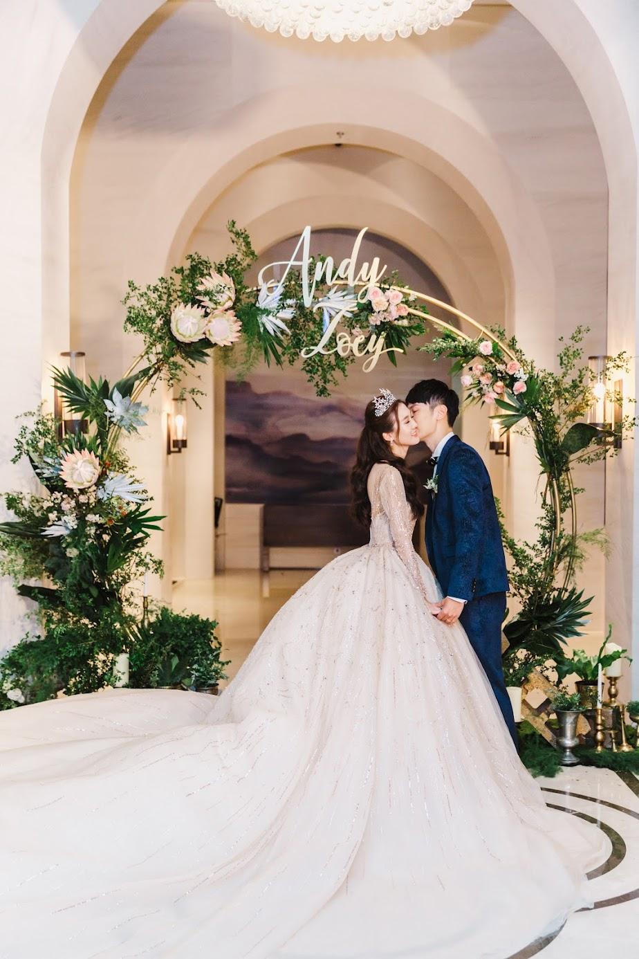 台北萬豪酒店 婚禮 美式婚禮紀錄 - 戶外證婚