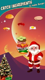 Santa Clause Cooking Burger - náhled