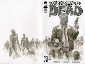 Photo: THE WALKING DEAD #100 PROJECT. 2012. Acryla Gouache on sketch cover, 14 × 10.5″.
