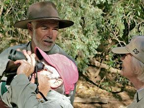 Photo: Day 4 -  Mike telling stories to Glenda, Bjork and Yen at Gungurul, © Ian Morris