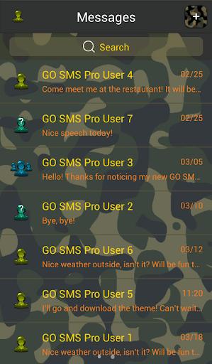 個人化必備APP下載|GO SMS Pro Army Camouflage 好玩app不花錢|綠色工廠好玩App