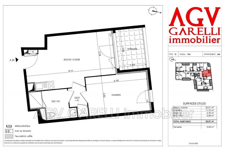 Vente appartement 2 pièces 39.07 m² à Toulon (83000), 194 000 €