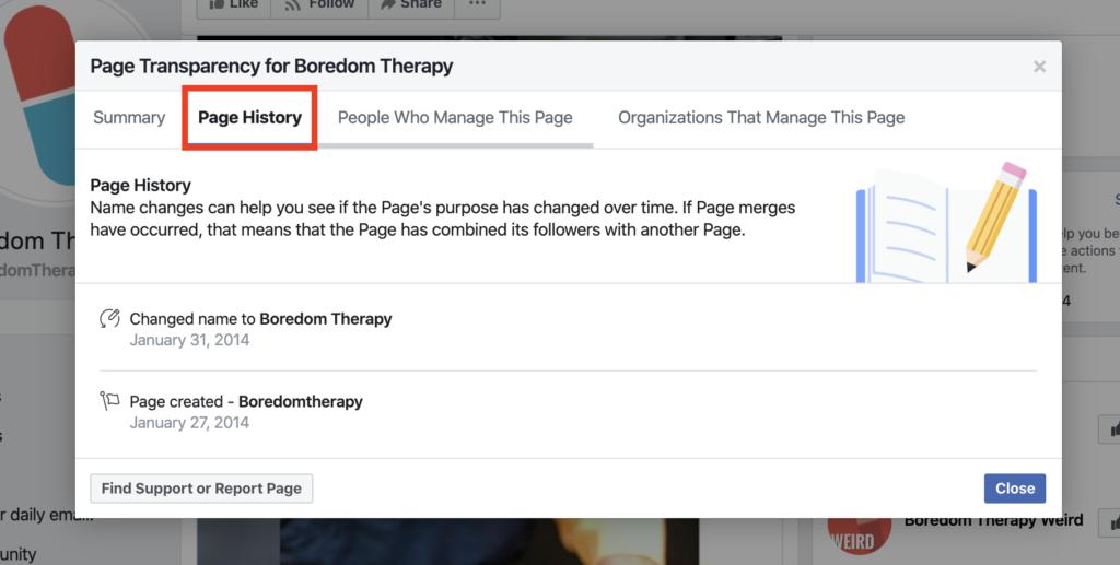 Trang Boredom Therapy lịch sử đổi tên trang