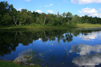 Photo: Refections in Spectacle Pond in Brighton State Park