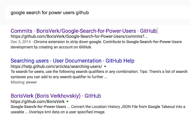 Google Search for Power Users