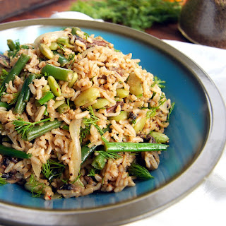 Brown Rice Salad with Dill.