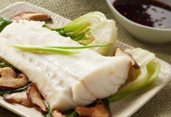 Ginger Steam Alaska Cod Fish / Soy Dipping Sauce Recipe