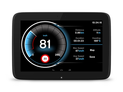Speed View GPS Pro app for Android screenshot