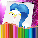 Coloriage Glitter Drawing icon
