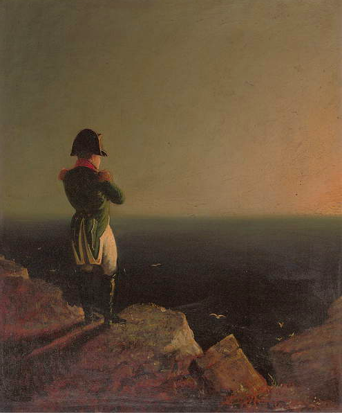 Image of Napoleon Bonaparte Musing at St. Helena, 1841 (oil on canvas), Haydon, Benjamin Robert (1786-1846) (after) / Private Collection Photo © Christie's Images / Bridgeman Images