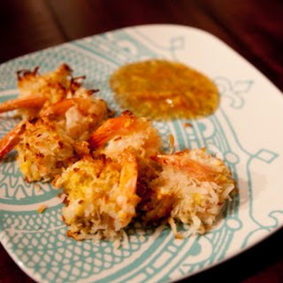 Baked Coconut Shrimp with Orange Marmalade Dipping Sauce.