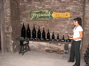 Photo: The variety of cava bottles available.