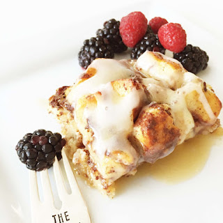Skinny Cinnamon Roll French Toast Bake.