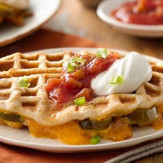 Jalapeño Cheddar Waffle Melts
