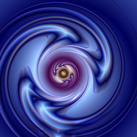 Blue swirl by Cassy 67 - Illustration Abstract & Patterns ( abstract, abstract art, swirl, digital art, spiral, fractal, digital, fractals, energy )