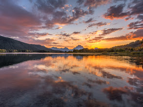 Photo: One of the better sunsets I'm experienced in Grand Teton National Park, Wyoming.  September 2008.  www.JeffSullivanPhotography.com