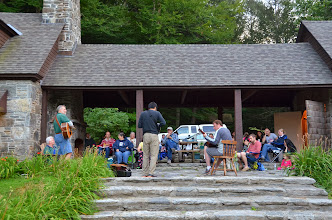 Photo: Saturday night music jam at Townshend State Park by Linda Carlsen-Sperry.