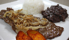 Jr Palomilla with Rice and Beans