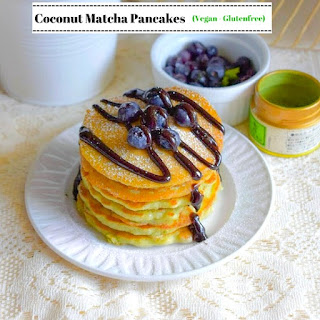 Coconut Matcha Pancakes (Vegan – Glutenfree).