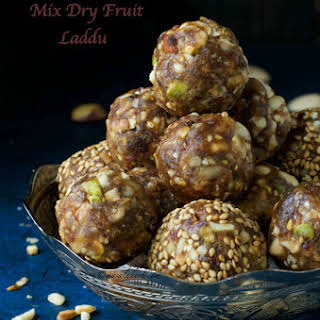 Date Nut Ladoo   Mix Dry Fruit Laddu   Date Nut Energy Balls.
