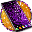Sparkling Glittery Live Wallpaper ⭐ Sequins Themes icon