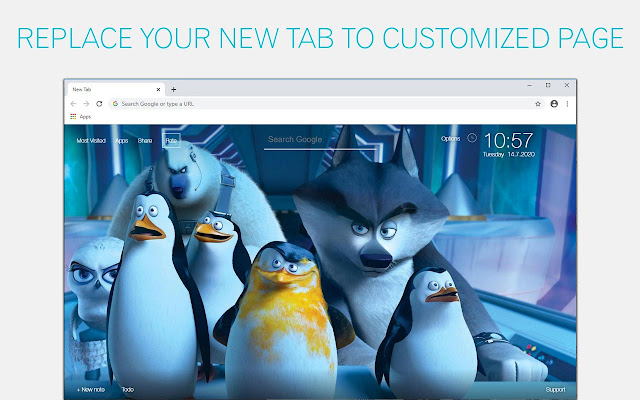 Penguins Of Madagascar Backgrounds HD New Tab