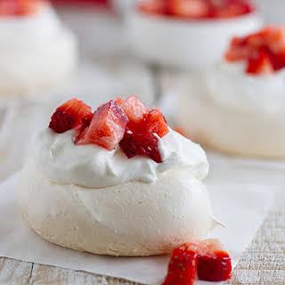 Mini Strawberry Pavlovas.