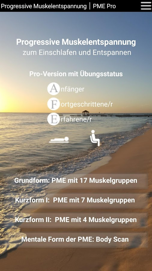 Progressive Muskelentspannung - PME Pro – Screenshot