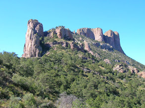 Photo: Casa Grande is one of the dominant features of the high Chisos Mountains, Big Bend National Park. This hike takes us to the top in search of a possible champion Drooping Juniper!