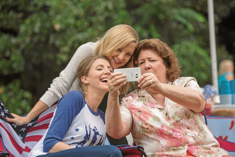 Sarah Chalke, Kate Hudson and Margo Martindale. Even the stars look confused. Picture: SUPPLIED